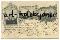 Chocianów - Kotzenau - Pałac,Kościół - Litografia